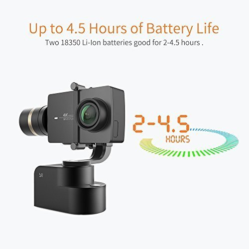 Yi Gimbal 3-Axis Handheld Stabilizer for Yi Lite, 4K, 4K+ and other Action Cameras (Gimbal Only) - Black