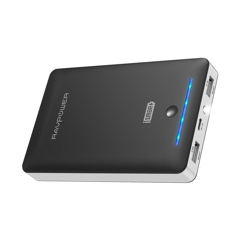 RAVPower 16750mah Power Bank External Battery Pack 4.5A Dual USB Output External Phone Charger Power Pack