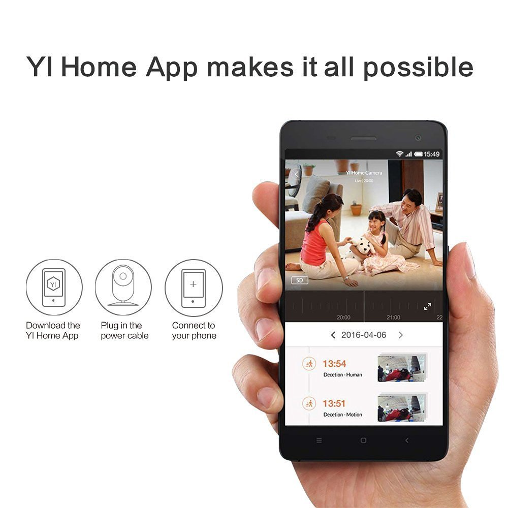 Yi Home Camera 2 1080p With 32gb Microsd Card Wireless Ip Security Anker Powerline 3ft Usb C To 30 White A8163021 Surveillance System Hdr International English Version