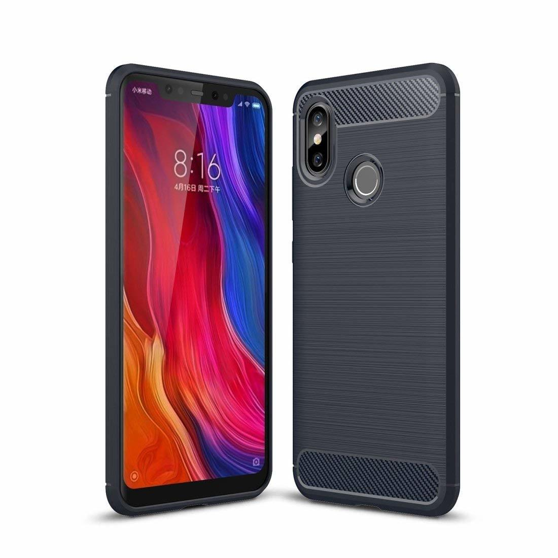 Mi 8 Concise Series / Slim Anti-fingerprint TPU Case by iPaky - Blue
