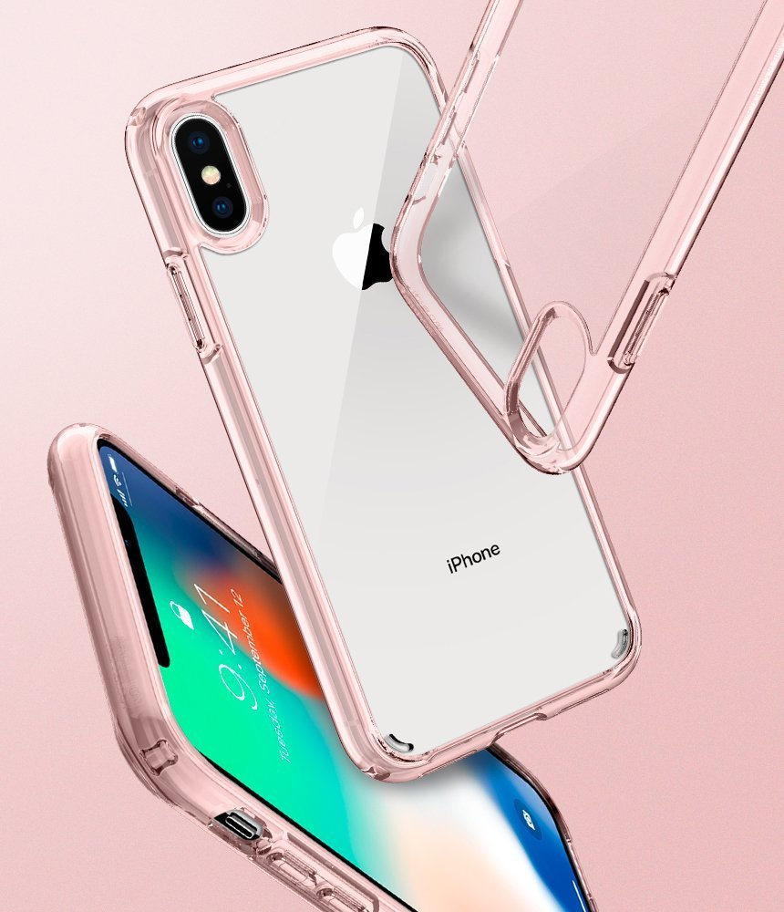info for b8f09 d7c7e Apple iPhone XS / iPhone X Spigen Original Ultra Hybrid Rose Crystal Pink  Case Price in Pakistan