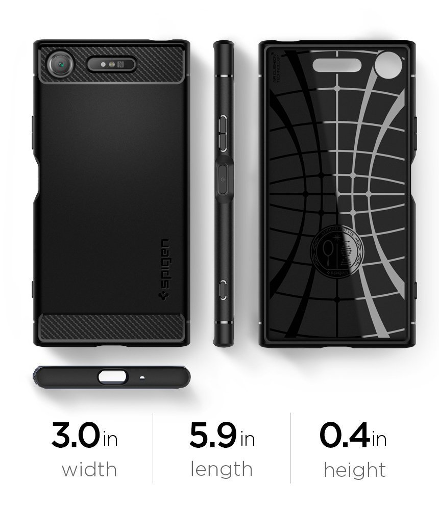 brand new 397d4 95716 Original Spigen Rugged Case Amor for Sony Xperia XZ1 in Pakistan