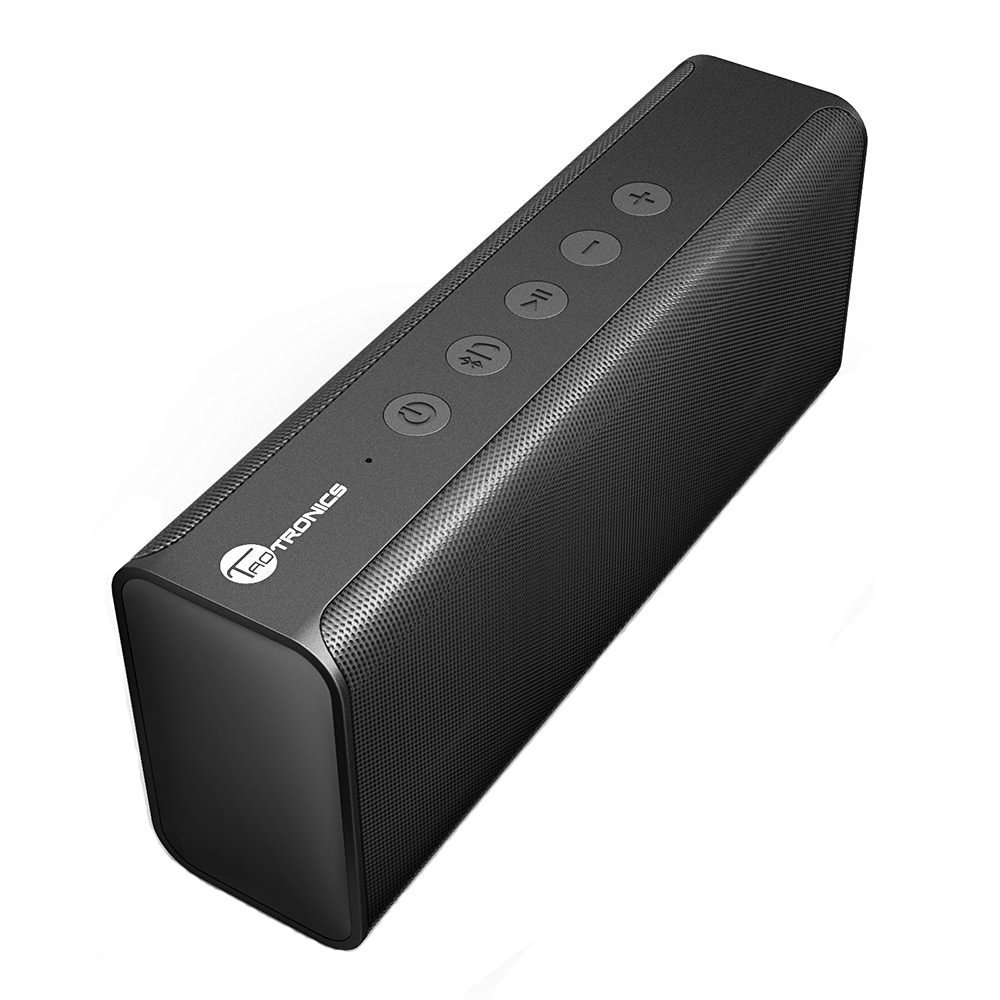 TaoTronics 14W Stereo Wireless Portable Bluetooth Speaker Pulse X from Dual 7W Drivers, Strong Bass, High Definition Audio, Built-in Microphone - TT SK10
