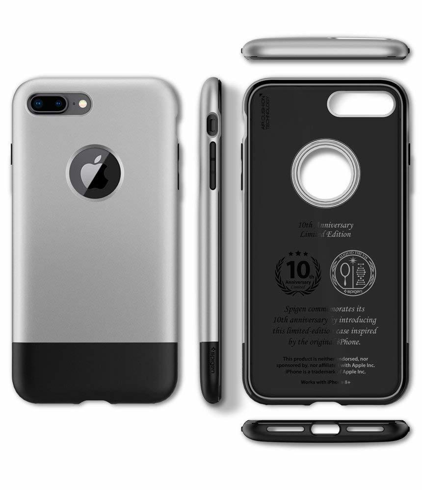 Apple iPhone 8 Plus / 7 Plus  Spigen Classic One with Air Cushion Technology - Aluminium Gray