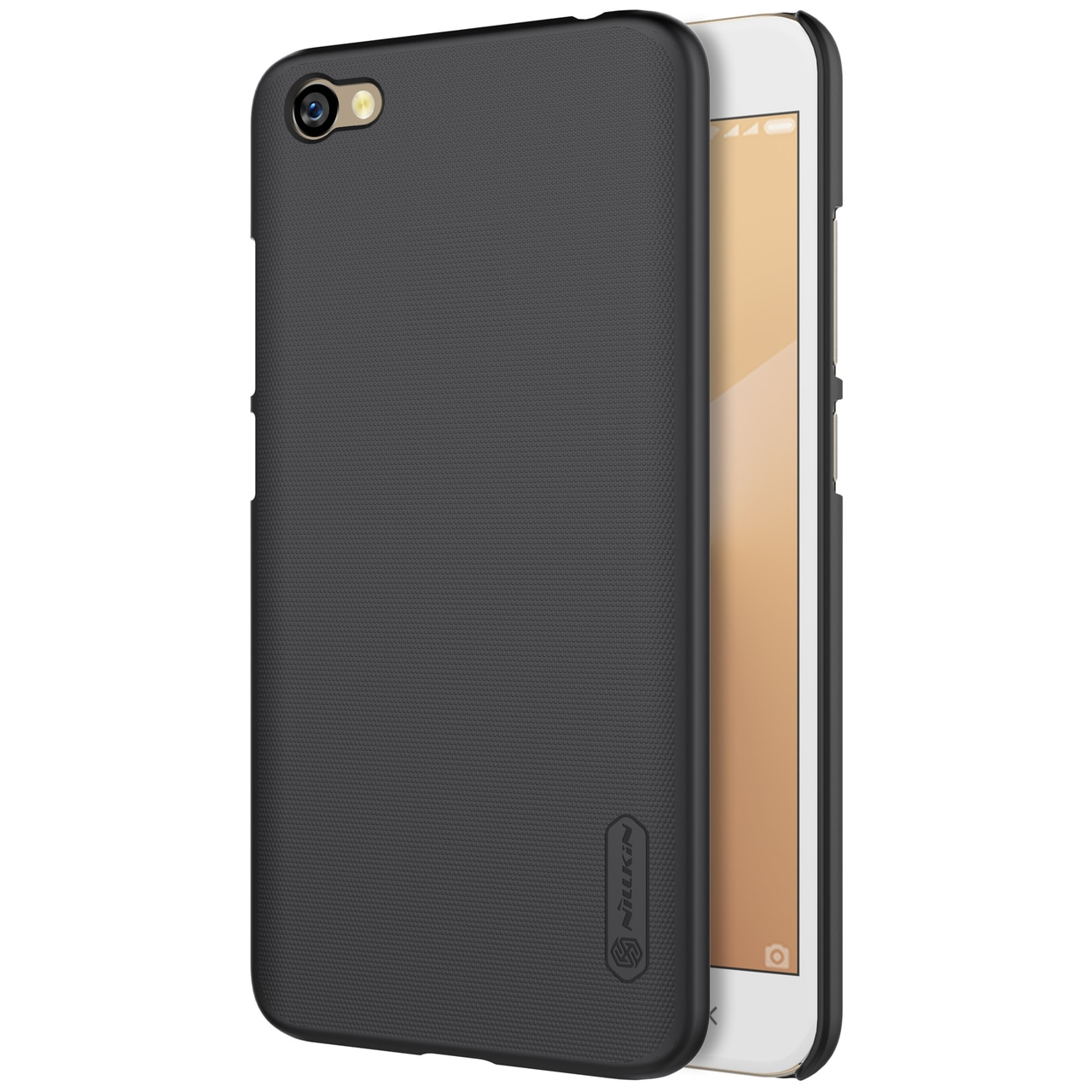 Redmi Note 5A Frosted Shield Hard Back Cover by Nillkin - Black