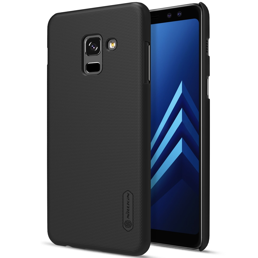 Samsung Galaxy A8 Plus 2018  Frosted Shield Hard Back Cover by Nillkin - Black