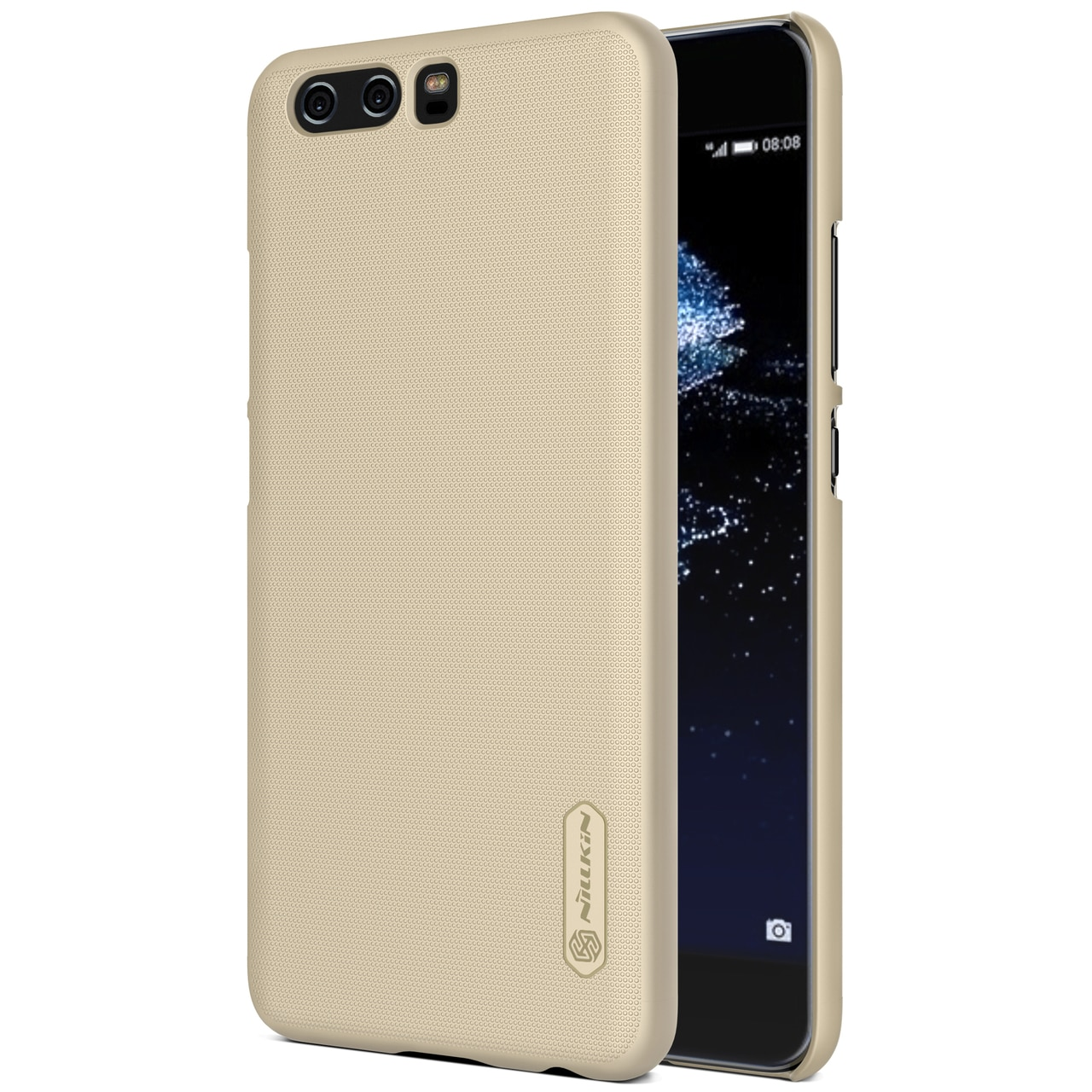 Huawei P10 Plus Frosted Shield Hard Back Cover by Nillkin - Gold