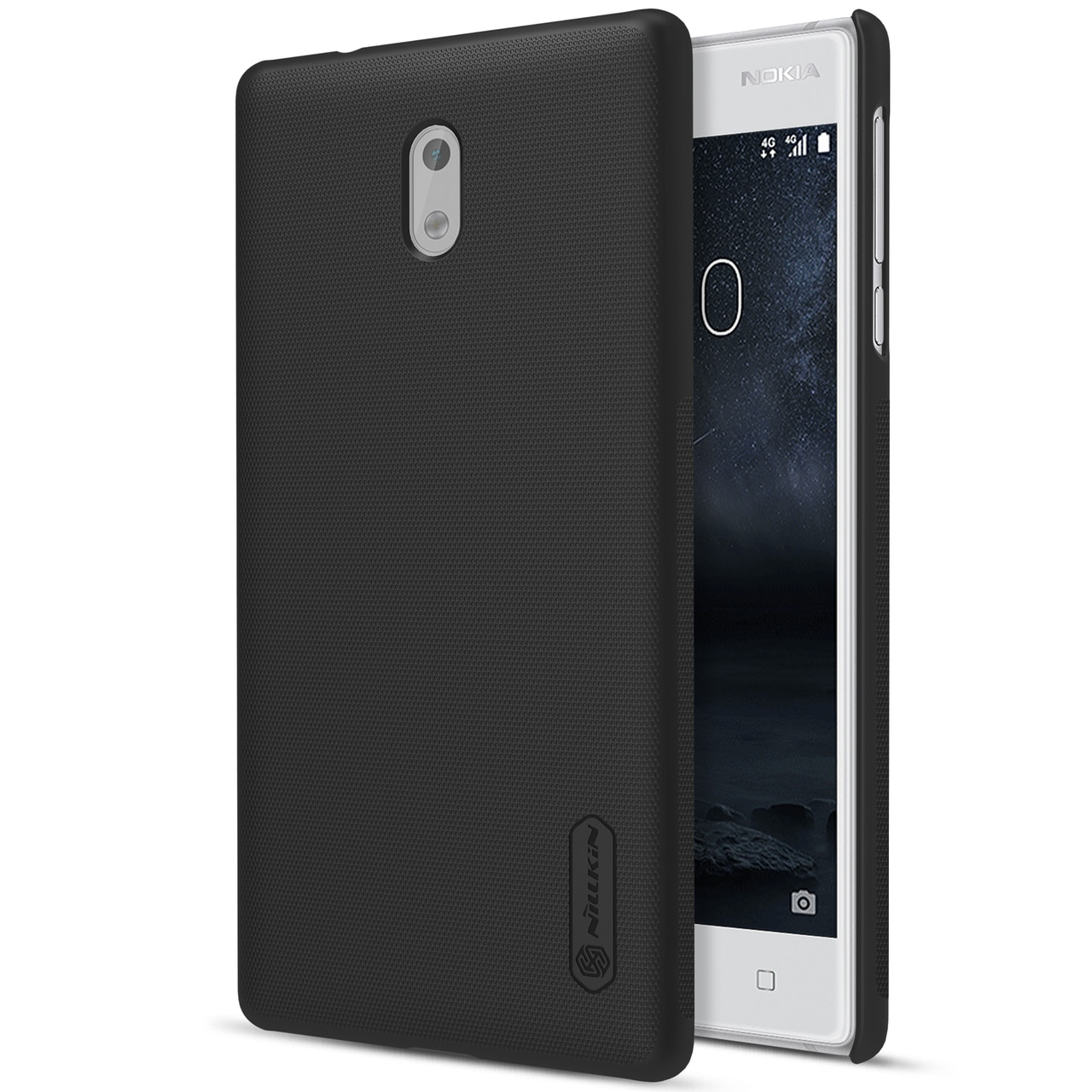 Nillkin Original Frosted Shield Back Cover for Nokia 3 with Free Screen Protector