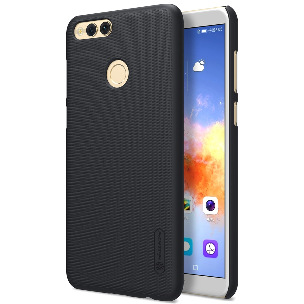 the latest 60e74 f9178 Huawei Honor 7X Frosted Shield Hard Back Cover by Nillkin - Black