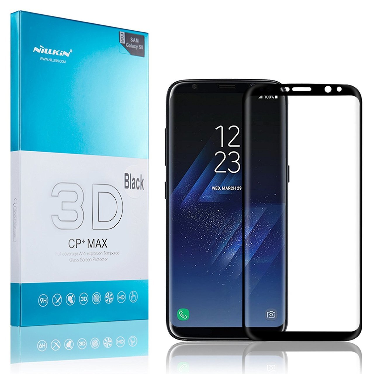 full coverage 3d cp max tempered anti explosion protector for samsung galaxy s8 galaxy s8