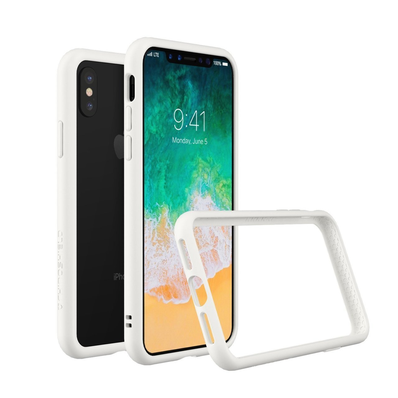 RhinoShield Apple iPhone X CrashGuard Bumper Case - White