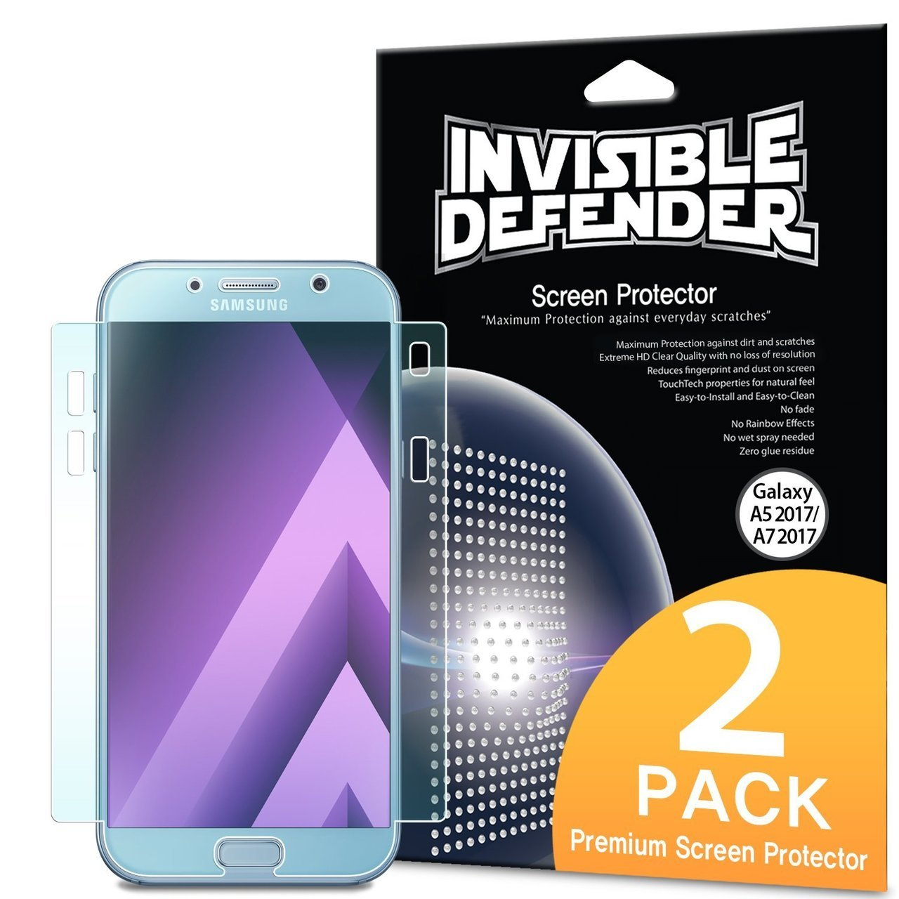 Samsung Galaxy A7 2017 Full Coverage Protector RIngke Invisible Defender