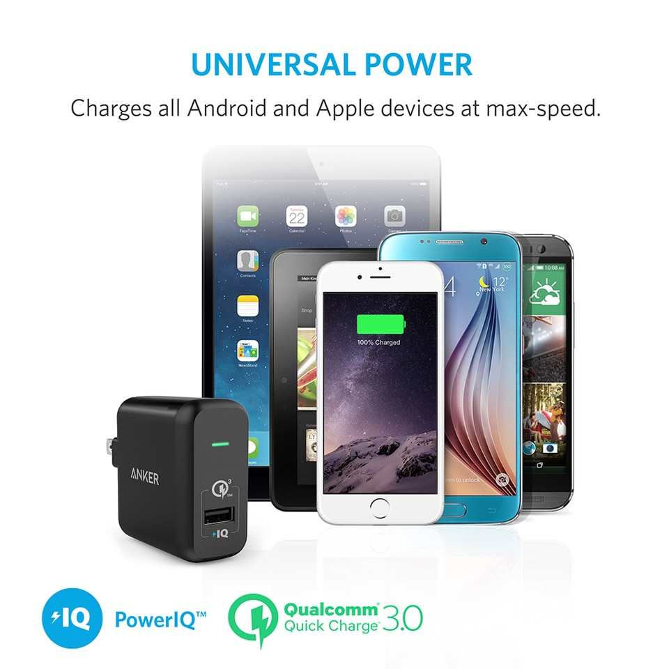 Anker Powerport 1 With Quick Charge 30 Price In Pakistan Powerdrive 2 Dual Usb Car Charger Qc A2224h12 Wall Black