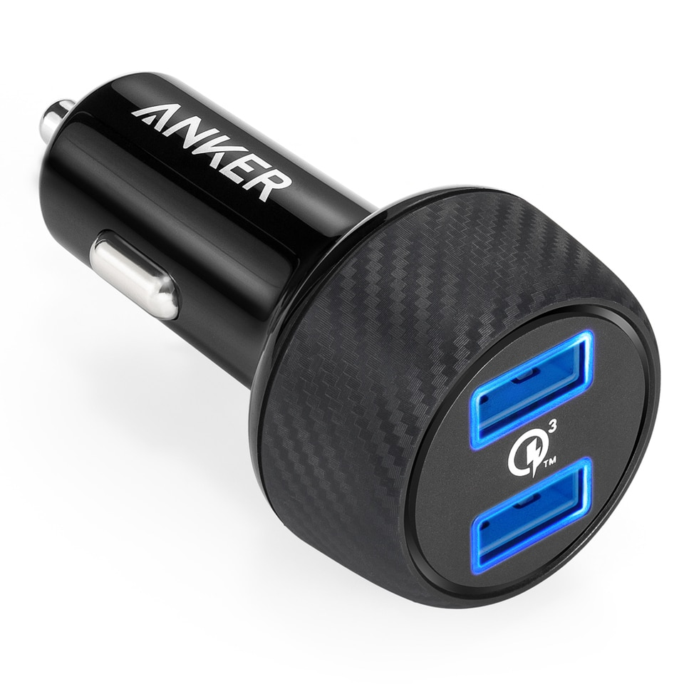 Anker PowerDrive Speed 2 Car Charger (2X Quick Charge 3.0) - Black (A2228H11)