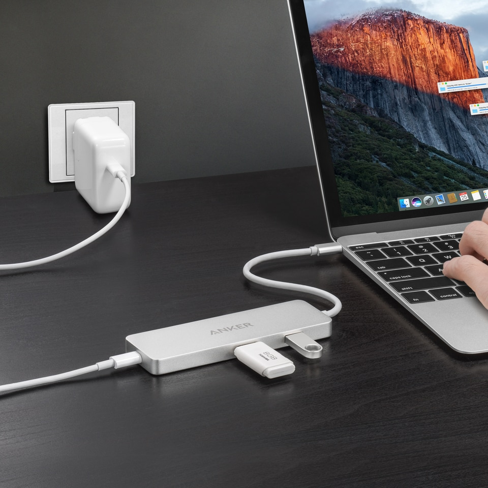Anker Usb C Hub With Hdmi And Power Delivery Price In Pakistan Powerline 3ft To 30 White A8163021 Premium Silver A8342h41