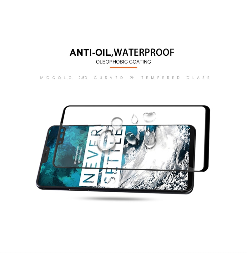 Mocolo OnePlus 6 3D Edge to Edge Tempered Glass - Black
