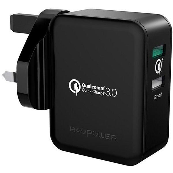 RAVPower 30W Dual USB Plug Wall Charger with Quick Charge 3.0 (4X Faster)