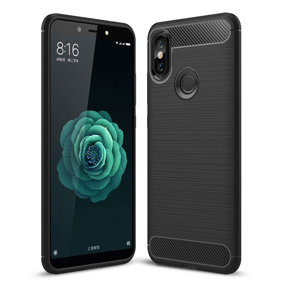Mi A2 / Mi 6X  Concise Series / Slim Anti-fingerprint TPU Case by iPaky - Black