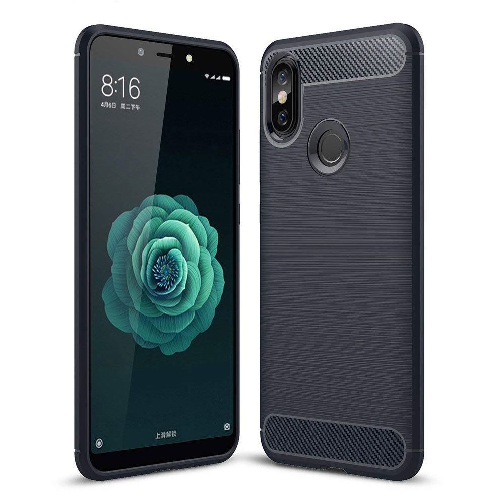 Mi A2 / Mi 6X  Concise Series / Slim Anti-fingerprint TPU Case by iPaky - Blue