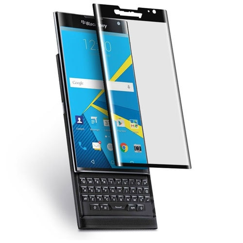 Mocolo Blackberry PRIV 3D Edge to Edge Tempered Glass - Black.