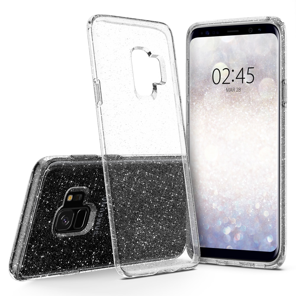 Galaxy S9 Spigen Liquid Crystal Glitter Case - Crystal Clear