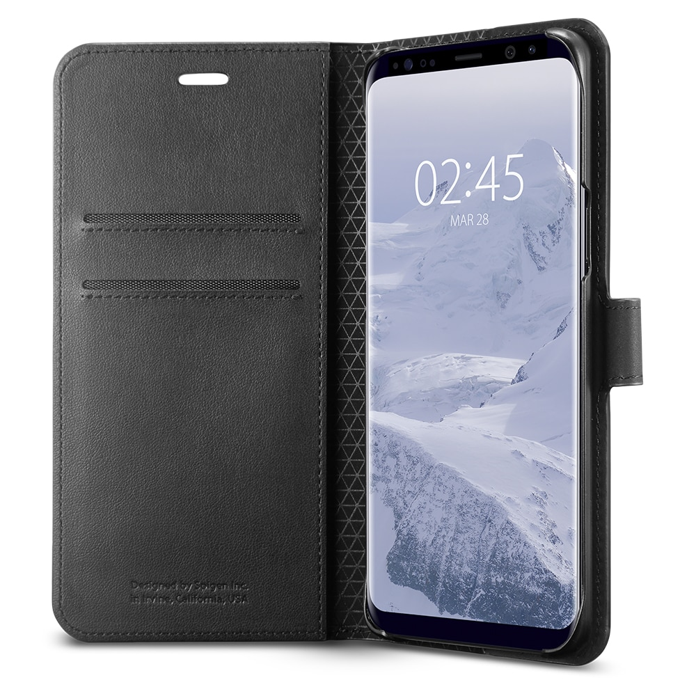 Samsung Galaxy S9 Plus Spigen Original Wallet S Flip Cover Case  - Black