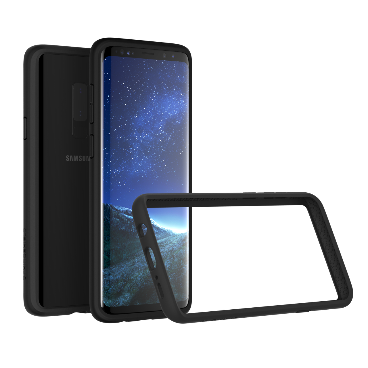 RhinoShield Samsung Galaxy S9 Plus CrashGuard Bumper Case - Black