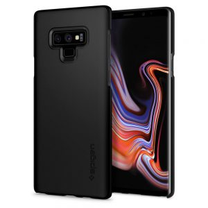 thin fit matte black spigen galaxy note 9