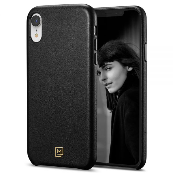 iphone xr leather case black case