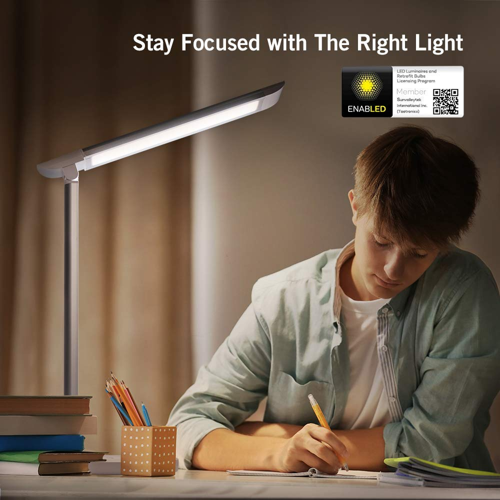 Led Lamp Desk Dimmable Table Lamp With Usb Charging Output