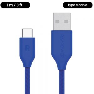 type c cable blue braided