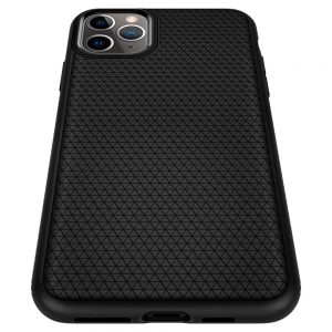iphone 11 pro liquid air case by spigen flexible drop protection tpu case matte black color