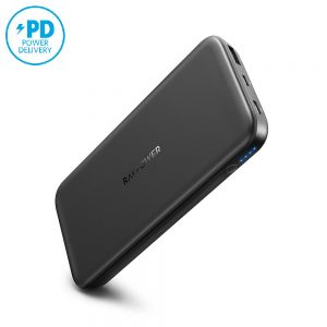 ravpower power delivery rp-pb173 18w power delivery powerbank black