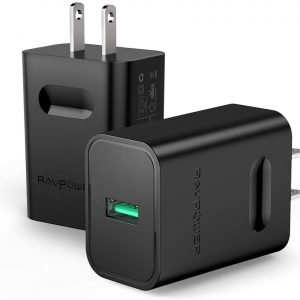 24w wall charger 2 pack fast quick charger 3.0 chargers
